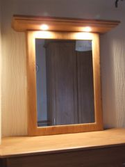 click to see larger image of Bespoke Chest, Mirror and light. Fitted in St Brelade, Jersey, Chanel Islands