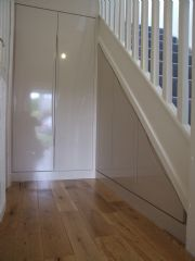 click to see larger image of Fully Fitted Angle Unit Under The Stairs. Fitted in Cardiff, South Wales