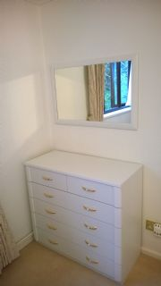 click to see larger image of Bespoke Chest & Wall Mirror. Fitted in Penyfai, South Wales