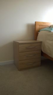 click to see larger image of Imola bedside chest in Sonoma Oak finish. In Penyfai, Bridgend, South Wales