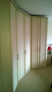 click to see larger image of Luxor robes in swiss elm finish. Assembled in Coity, Bridgend, South Wales