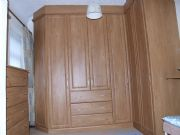 click to see larger image of Bespoke Wardrobe with top boxes & Angled doors. Fitted in St Brelade, Jersey, Chanel Islands