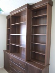 click to see larger image of Bespoke Office in Walnut. Fitted in Cowbridge