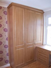click to see larger image of Bespoke Wardrobe with Built in Dressing Table. Fitted in Saint Helier, Jersey, Chanel Islands