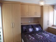 click to see larger image of Bespoke Over bed unit with LED Lights. Fitted in St Peter, Jersey, Chanel Islands
