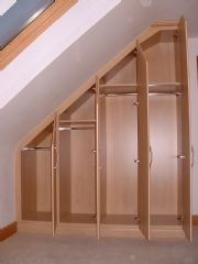 click to see larger image of Bespoke Angled Wardrobes. Fitted in St Saviour, Jersey, Chanel Islands