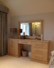 click to see larger image of Bespoke Dressing Table and Wall Mirror. Fitted in Grouville, Jersey, Chanel Islands
