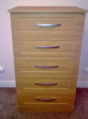 click to see larger image of Bespoke Chest to match Wardrobes. Fitted in Mumbles, Swansea, South Wales