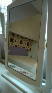 click to see larger image of Bespoke Dressing Table and Mirror. Fitted in Pencoed,  South Wales