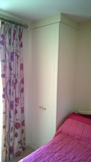 click to see larger image of Bespoke Wardrobe unit in Cream. Fitted in Swansea, South Wales