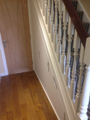 click to see larger image of Made to measure understairs unit. Installed in Broadlands, Bridgend, South Wales