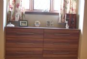 click to see larger image of Made to Measure Chest in Walnut. Installed  in Maesteg, South Wales