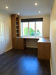 click to see larger image of Bespoke Home Office. Fitted in Broadlands, Bridgend, South Wales