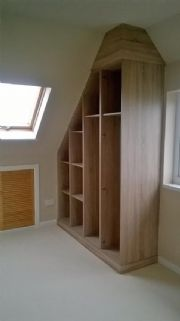 click to see larger image of Bespoke Chest in Walnut. Installed in Maesteg, Bridgend, South Wales