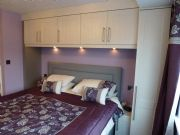 click to see larger image of Bedroom in Shaker Hacienda White Grain. Fitted in Bridgend, South Wales