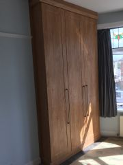 click to see larger image of Fully Fitted robes fitted in to alcoves. Fitted in St Brides, South Wales
